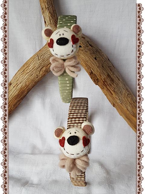 Cerchietto per capelli bambina orsetti