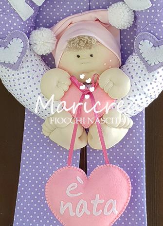 bambolina fiocco nascita bambina