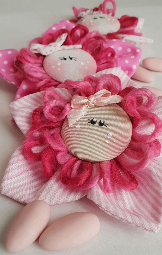 fiori faccine tessuto bomboniere