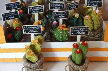 Cactus bomboniere comunione crochet