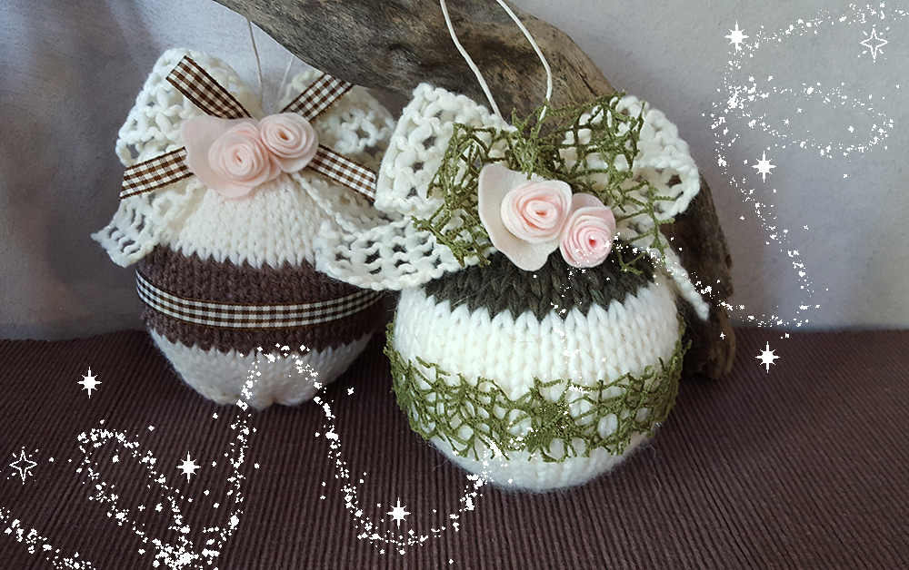 Palline di Natale in lana