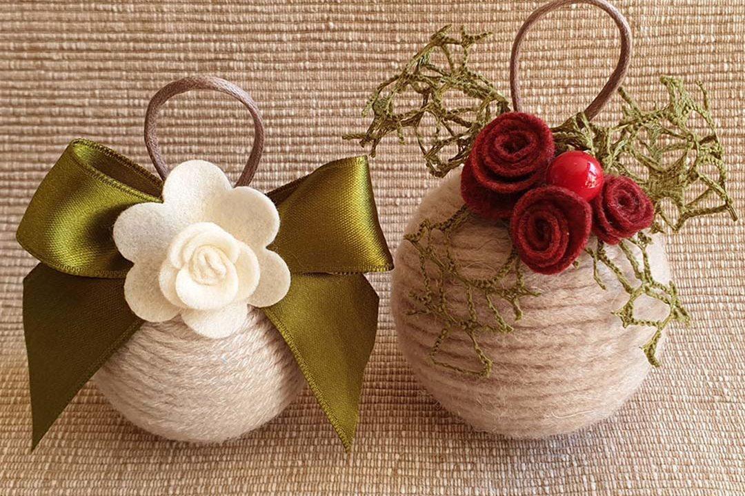 Palline di Natale handmade