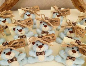 bomboniere orsetto portachiavi