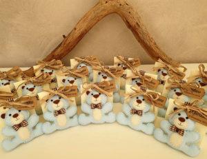 Bomboniere portachiavi orsetto pannolenci