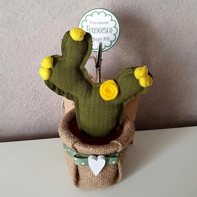 Cactus bomboniera portamemo