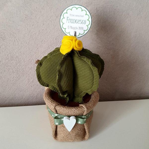 Bomboniera cactus tessuto2