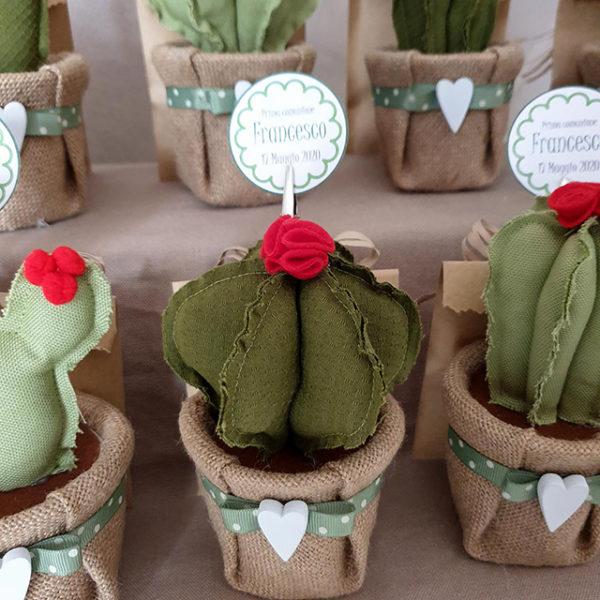 Bomboniera cactus tessuto