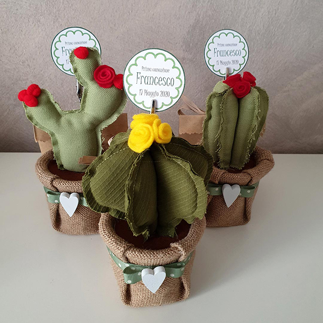 bomboniere cactus fatte a mano
