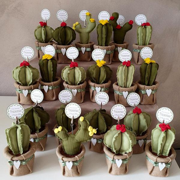 Bomboniere cactus portamemo