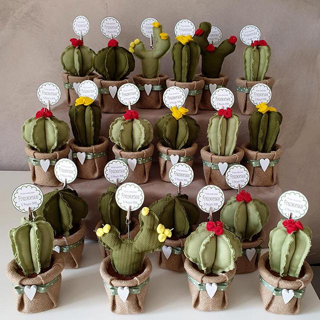 cactus tessuto bomboniere