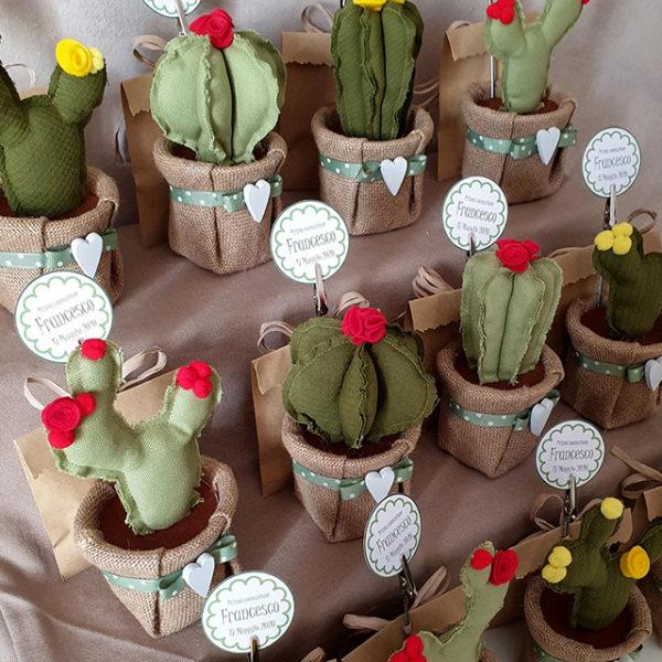 bomboniere cactus tessuto portamemo