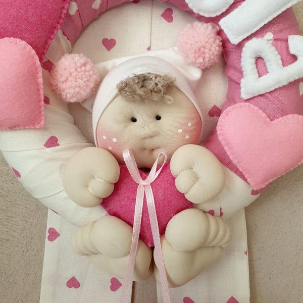Fiocco nascita bambolotto Viola