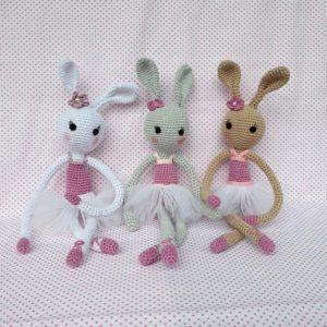 conigliette ballerine crochet