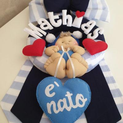 Fiocco nascita righe azzurro Mathias2