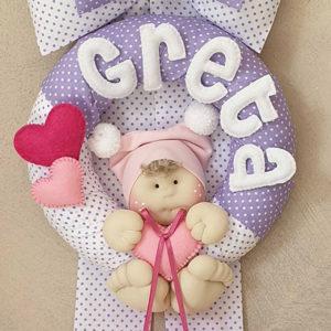 Fiocco nascita bimba bambolotto