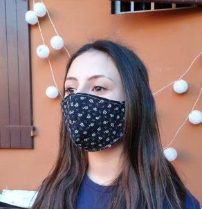 Mascherine in tessuto protettive in cotone riutilizzabili