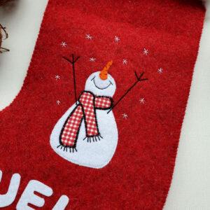 calze befana grande pupazzo di neve