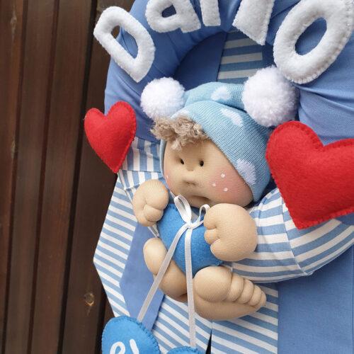 Fiocco nascita Dario bambolotto