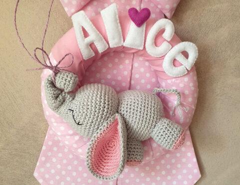 Fiocco nascita elefantino