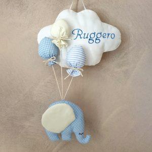 fiocco nascita elefantino e nuvola